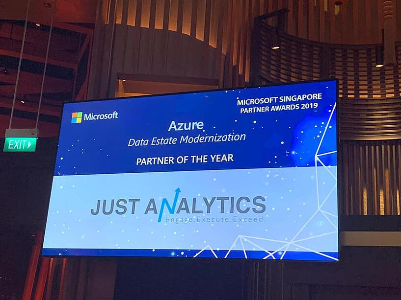 Just Analytics wins Data Estate Modernization Partner of the Year 2019