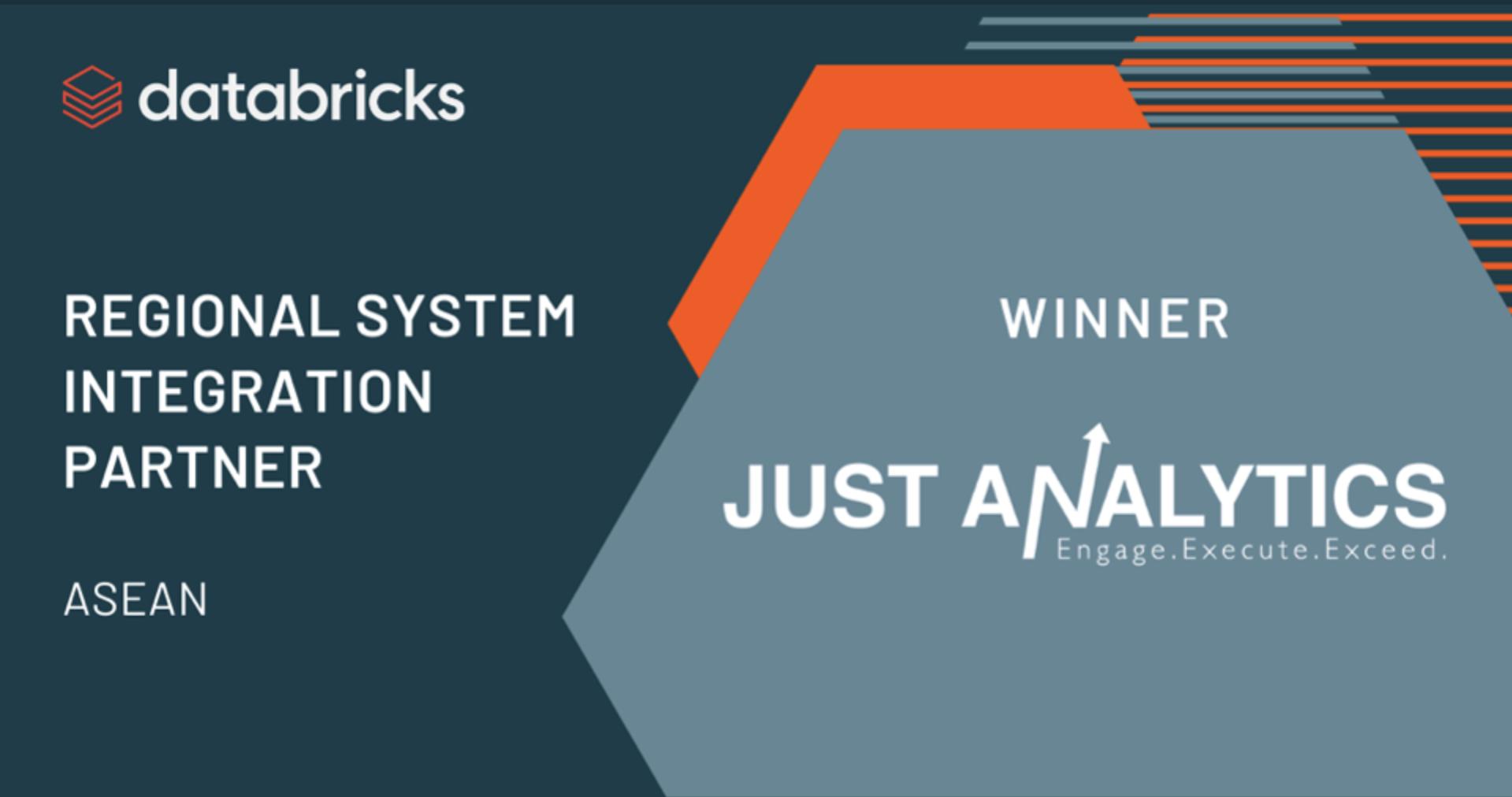 Just Analytics Wins Databricks' ASEAN Regional System Integration Partner Award